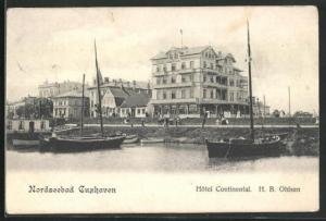 AK Cuxhaven, Hotel Continental H. B. Ohlsen