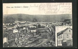 AK Lorsbach / Taunus, Gasthuas von Karl Schäfer, Ortsansicht