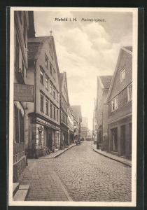 AK Alsfeld i. H., Sicht in die Mainzergasse