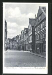 AK Alsfeld / Hessen, Untergasse mit ehemal. Rentamtsgebäude