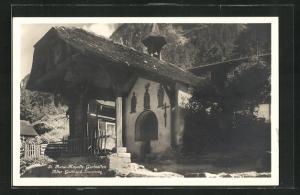 AK Gurtnellen, St. Annaberg-Kapelle am alten Gotthard Saumweg