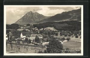 AK Sarnen, Kapuzinerkloster mit Stanserhorn