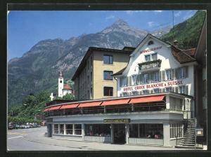 AK Flüelen, Hotel Weisses Kreuz