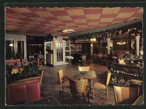 AK Andermatt / Gotthard, Hotel-Restaurant Schlüssel, Innenansicht
