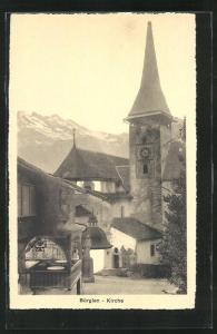 AK Bürglen, Sicht zur Kirche