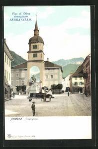 AK Altdorf, Platz mit Telldenkmal