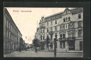 AK Konitz, Blick in die Bahnhofstrasse