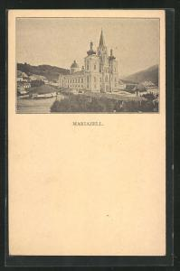 AK Mariazell, Blick zur Gnadenkirche