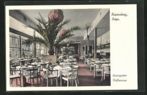 AK Braunsberg, Cafe Wintergarten, Flussterrasse