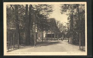 AK Königsberg, Tiergarten, am Gesellschaftshaus