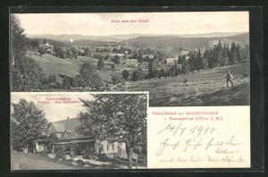 AK Baberhäuser, Gasthaus Baberkretscham, Panorama