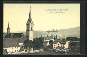 AK Lankowitz, Blick von Norden auf die Kirche