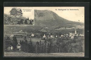AK St. Radegrund, Stubenberghaus am Schöckel, Gesamtansicht
