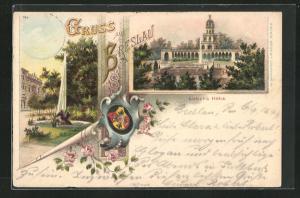 Lithographie Breslau, Motiv der Liebich`s Höhe