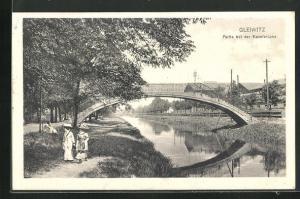 AK Gleiwitz, Partie bei der Kanalbrücke