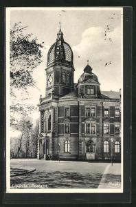 AK Liegnitz, Ansicht vom Postamt