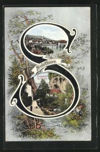 AK Solothurn, Einsiedelei St. Verena, Teilansicht mit Brücke