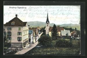 AK Hemberg / Toggenburg, Sicht über den Ort mit Kirche