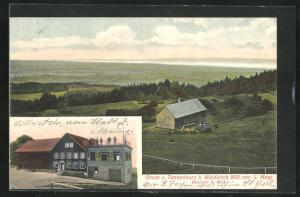 AK Waldkirch, Gasthaus Tannenberg, Panorama