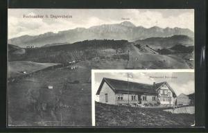 AK Fuchsacker / Degersheim, Restaurant Schönegg, Panorama mit Säntis