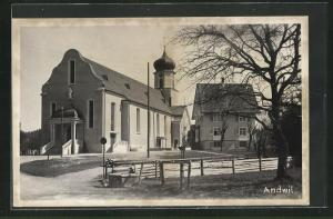 Foto-AK Andwil, Partie bei der Kirche