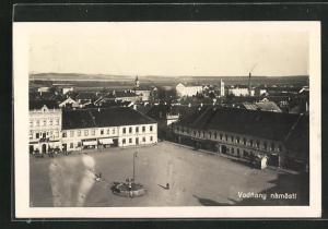 AK Vodnany, Namestie, Stadtplatz aus der Vogelschau