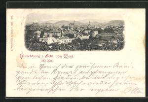 AK Hirschberg, Panorama von Westen