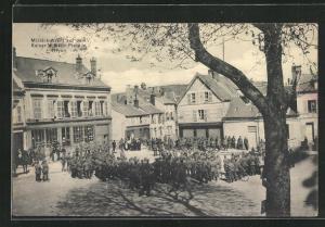 AK Noyon, Militärkonzert auf dem Kaiser Wilhelm Platz
