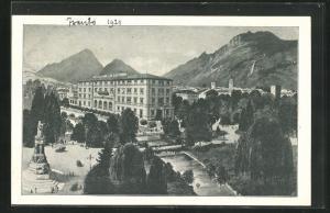 AK Trento, Blick um Hotel Bristol