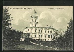 AK Warthelager, Truppenübungsplatz, Blick zum Schloss Weissenburg