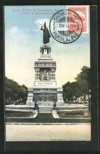 Künstler-AK Mexico City, Estatua de Cuauhtemoc