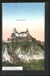 Künstler-AK Fraknovar, Blick auf das Schloss Forchtenstein