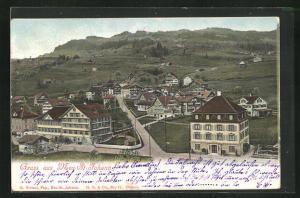 AK Neu-St. Johann, Strassenpartie mit Häusern