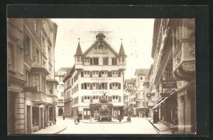 AK St. Gallen, Speisergasse mit Papierhandlung Ritter & Co.