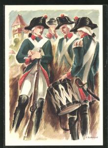 Künstler-AK Aarau, Eidg. Kadettentage Aarau 1939, 150-jähriges Jubiläum des Kadettenkorps