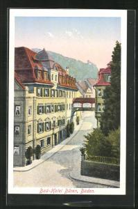 Künstler-AK Baden, Bad-Hotel Bären
