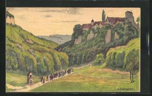 Künstler-AK Mariastein, Panorama