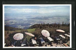 AK Oberdorf, Hotel Weissenstein, Blick von der Solothurner Sonnenterrasse