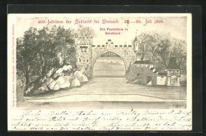Künstler-AK Solothurn, Festbühne zum 400-jährigen Jubiläum der Schlacht bei Dornach 1899