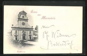AK Mariastein, Blick zur Klosterkirche