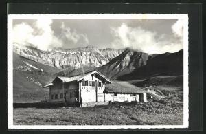AK Elsigbach, Blick zum Berghaus Elsigenalp