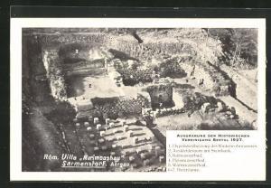 AK Sarmenstorf, Röm. Villa Murimooshau, Ausgrabungsstätte