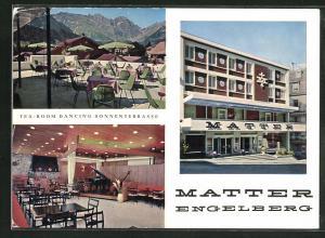AK Engelberg, Tea-Room Matter mit Saal und Terrasse