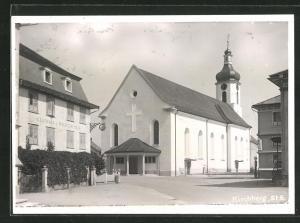 AK Kirchberg, Strassenpartie mit Gasthaus Wilhelm Tell und Kirche