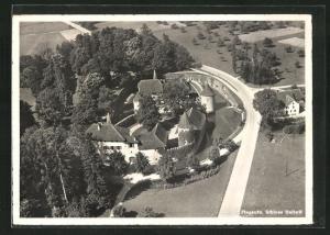 AK Hallwil, Schloss Hallwil vom Flugzeug aus gesehen