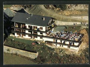 AK Grächen, Hotel-Restaurant Waldheim aus der Vogelschau