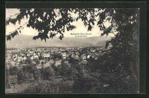 AK Reinach / Baselland, Blick von einer Anhöhe auf das Dorf