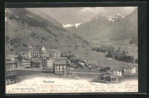 AK Klosters, Teilansicht vom Ort mit Blick ins Tal