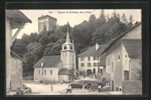 AK Les Clees, Eglise et Chateau des Clees