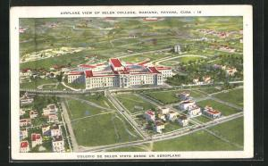 AK Havana, Airplane View of Belen College, Mariano